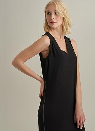 Ng Style Fermuar Detaylı Elbise Siyah